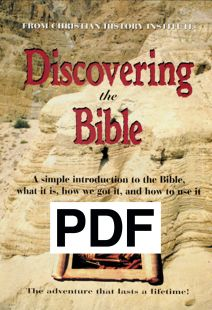 Discovering The Bible: 32 page Booklet - (PDF)